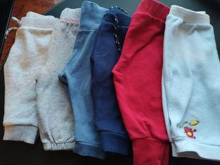 Pantalones algodón bebe 3-6m