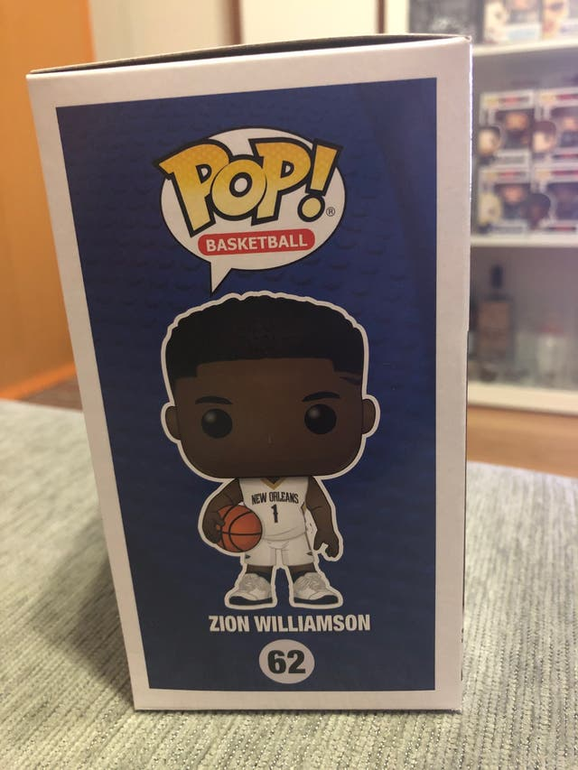 FUNKO POP , ZION WILLIAMSON #62, (NEW ORLEANS)