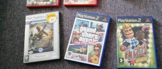 LOTE JUEGOS PS2 BUZZ MEDAL OF HONOR GTA