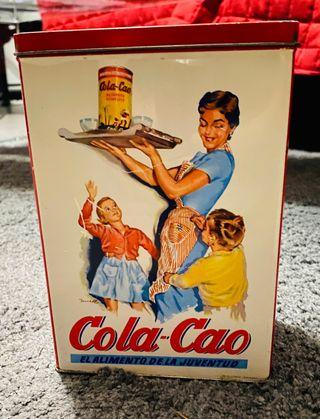 Caja aluminio/metálica vintage Cola-Cao