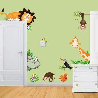Pegatinas adhesivas de vinilo para pared animales