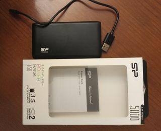 Batería externa para móvil y tablet.