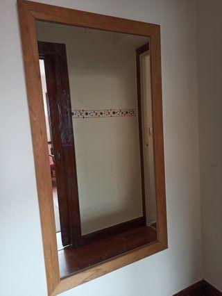 Espejo madera natural