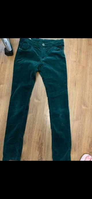 pantalón vaquero verde oscuro terciopelo