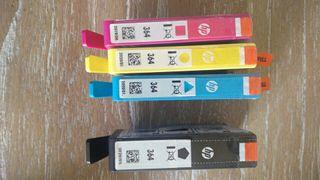 cartuchos impresora HP Modelo 364 negro y colores