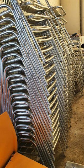 deja wasap hago lotes de sillas de acero inox