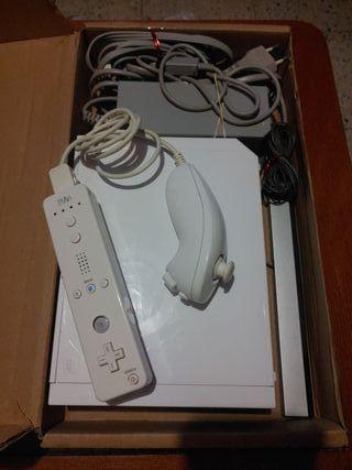 Consola Wii completa (Juego + 1 Nunchuck + 1 Wimot