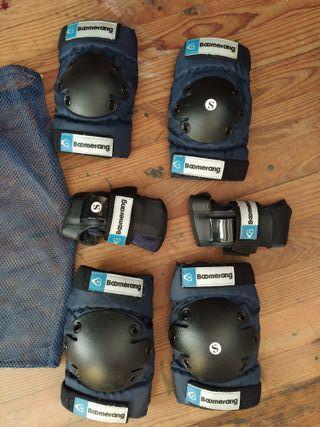 Protecciones (coderas, rodilleras, de mano)