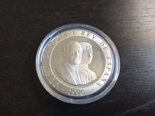 Moneda de plata 2000 pts 1990 Barcelona 92 JJ OO