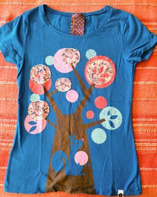 camiseta de patchwork