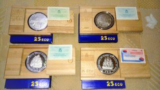 Moneda de 25 Ecus de plata.