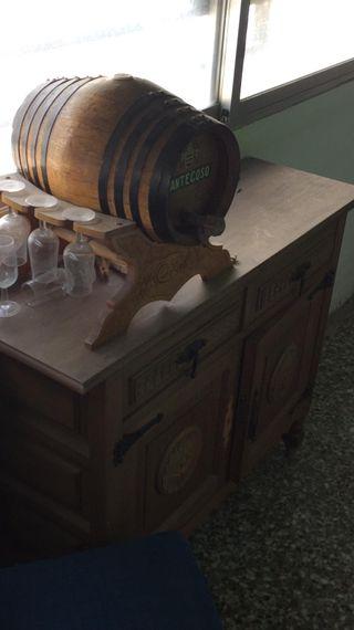 mesa más barril .