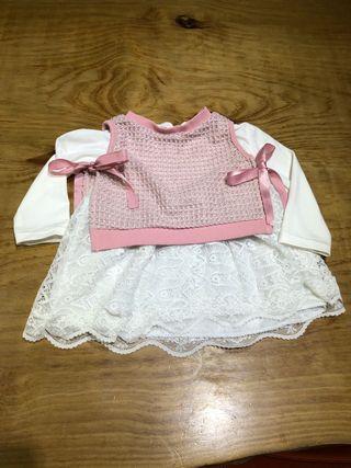Talla 12-18 meses Vestido bebé niña