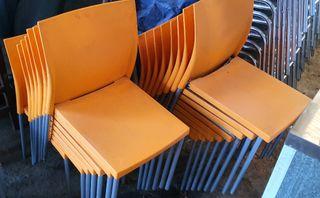 deja wasap lote de 15 sillas de color naranja