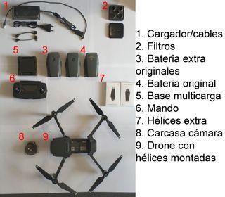 Drone DJI Mavic Pro con 2 baterías extra
