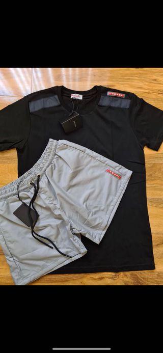 Prada Shorts and T-Shirt Set