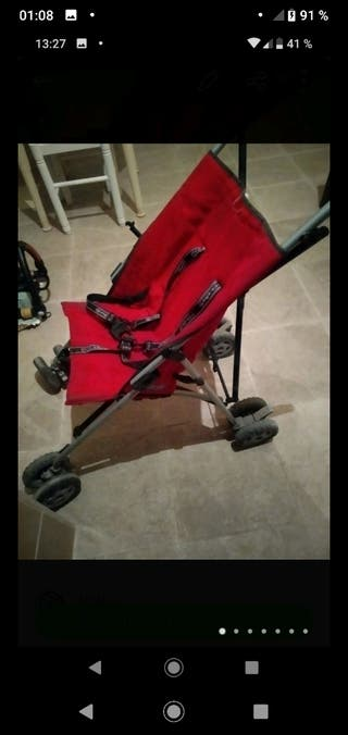 silleta ligera rejilla roja tipo paraguas