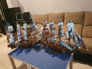 Barcos para coleccionistas hecho con papiro