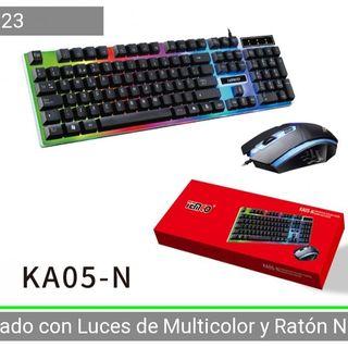 Kit ratón y teclado con cable multicolor