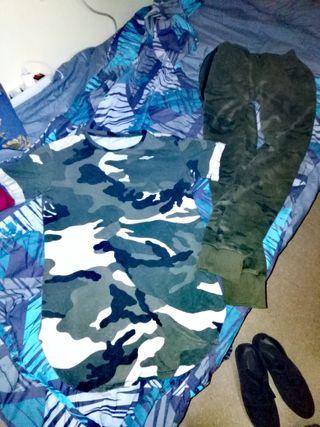 camiseta militar+pantalón militar