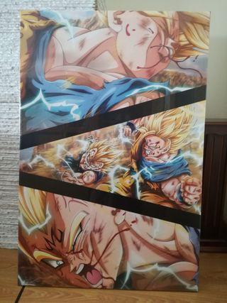 Cuadro Lienzo Goku vs Vegeta