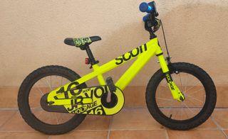 "Bicicleta Scott Jr 16"""
