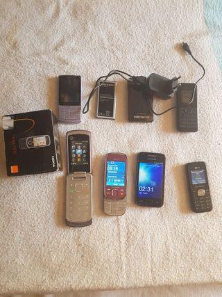 Lote de 7 móviles