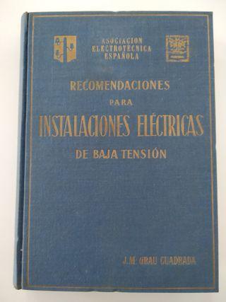 """Libro """"Recomendaciones Instalaciones Eléctricas"""""""