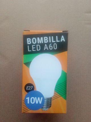 pack de 10 bombillas led 10w nuevas a estrenar.