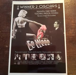 Postal del cartel de la película ED WOOD