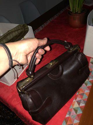 Bolso vintage 'doctor' piel