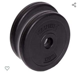 discos de pesas de 2kg y 1kg