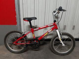 Bicicleta de 3 a 8 años.