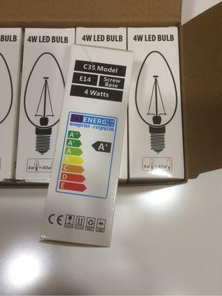Bombilla led, E14, tipo vela, bajo consumo solo 4W