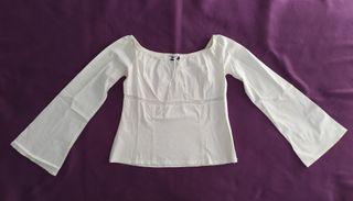 Camiseta/Camisa blanca manga ancha
