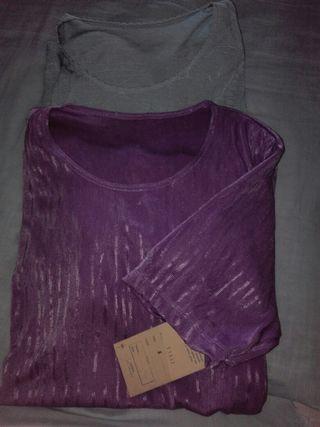 dos camisas mujer manga corta t.