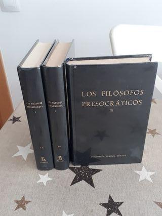 Libros Los filósofos presocraticos I II y III