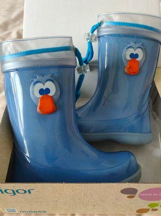 botas de agua niño talla 32