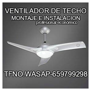VENTILADOR DE TECHO-MONTADORES PROFESIONALES