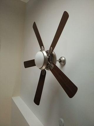 lámpara ventilador de techo 135 cm