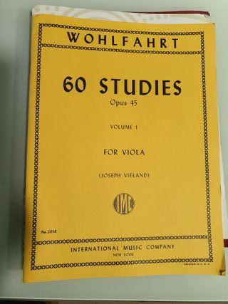 Wohlfahrt 60 studies for viola vol 1