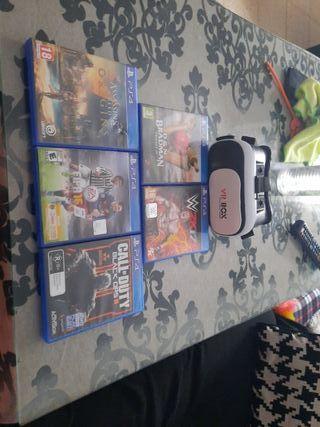 juegos de ps4 y gafas de realidad virtual