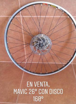 "Llanta competición Mavic 26"" disco 160°"