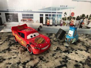Cars Rayo McQueen y Guido 1/64 Mattel