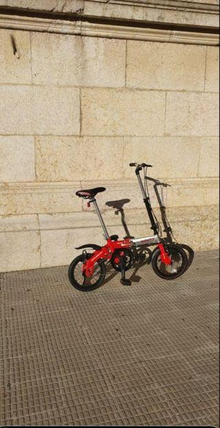 bicicleta monty pocket 14 plegable ultraligera