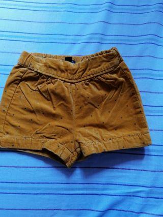 pantalón pana corto