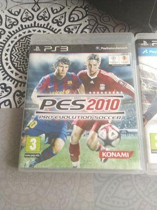 pack de dos juegos PS3 FIFA 14 y pes 2010
