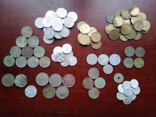 100 monedas españolas variadas (deterioradas)