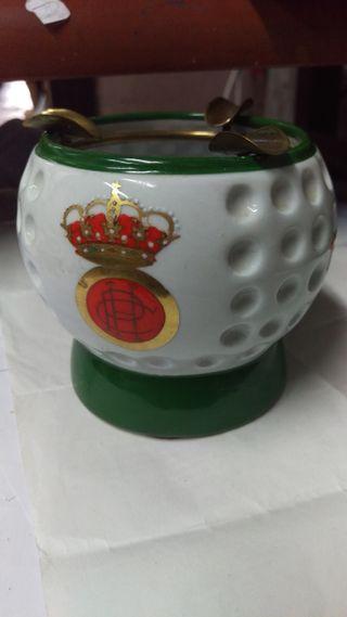 cenicero vintage Club historico de golf