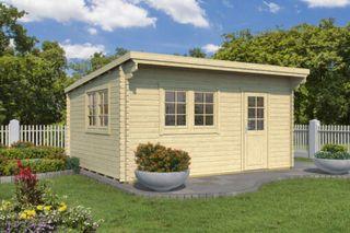 Vendo casa de madera moderna, 20m2, doble cristal.